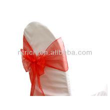 красный, vogue кристалл органзы стул створки галстук обратно, лук галстук, узел, Чехлы на стулья свадьбы и скатерть