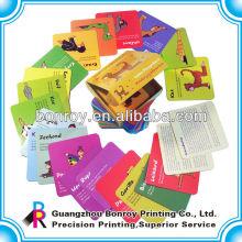 impresión de tarjeta de juego de diseño personalizado