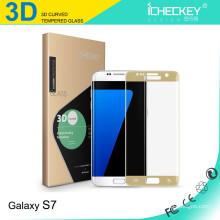 Protecteur d'écran en verre trempé de couverture totale 3D incurvé pour Samsung s7