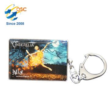 Cadeaux gravés en métal faits sur commande de haute qualité de logo de promotion de logo Keychains