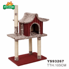 China Distributer Wholesale Luxury Cute Cat Trees Scratching Post for Big Cats