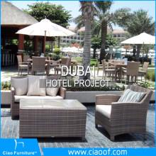 Dubai Hotel Rattan Outdoor Furniture Project