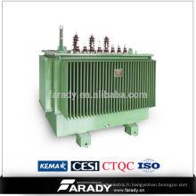 Transformateur 3 phases Transformateur de puissance immergé réservoir d'huile