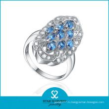 Micro Pave природных Blue Star сапфир кольцо