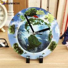 High Quarlity Sublimation Glass Photo Frame with clock