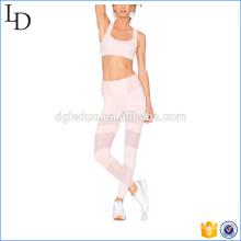Розовый горячей продажи йога бюстгальтер спортивная одежда и штаны для йоги наборы для женщин