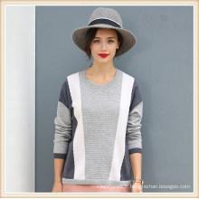 Pull à motifs de tricot 100% cachemire