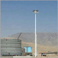 15m 20m 25m 30m hot dip galvanized steel high mast flood lighting pole directly from factory