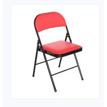 Wholesale noir chaises rembourrées en métal rembourré