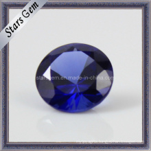 Synthetic 34# Blue Sapphire for Jewelry