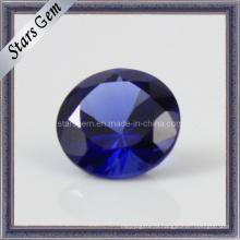 Синтетический 34 # Blue Sapphire для ювелирных изделий
