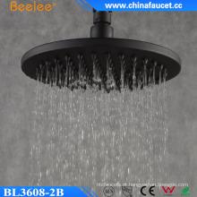 Óleo de Beelee esfregou bronze latão 8 ′ ′ cabeça de chuveiro de chuva preta