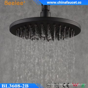 Beelee Oil Rubbed Bronze Brass 8′′ Black Rain Shower Head