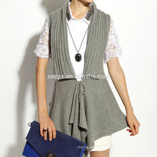 16STC8102 Giant collar cashmere wool knit long open cardigan