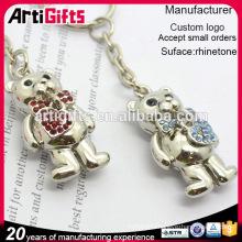 High end metal bear keychain souvenir