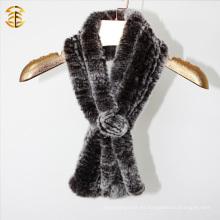 Real Rex piel de conejo invierno Infinity Warm Bufanda Snood