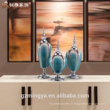 Продвижение завод китайский керамический сад украшения beactiful гостиной офисный стол украшения стекло ваза штук для продажи