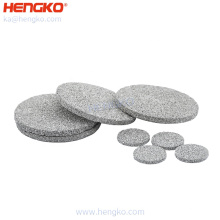 HENGKO SS 316/316l sintered disc filter With Stainless Steel Powder Sintering For industry or home water treatment