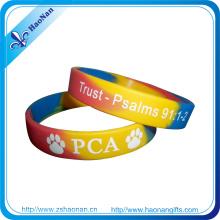 Pulsera personalizada por encargo de las pulseras del silicón del logotipo