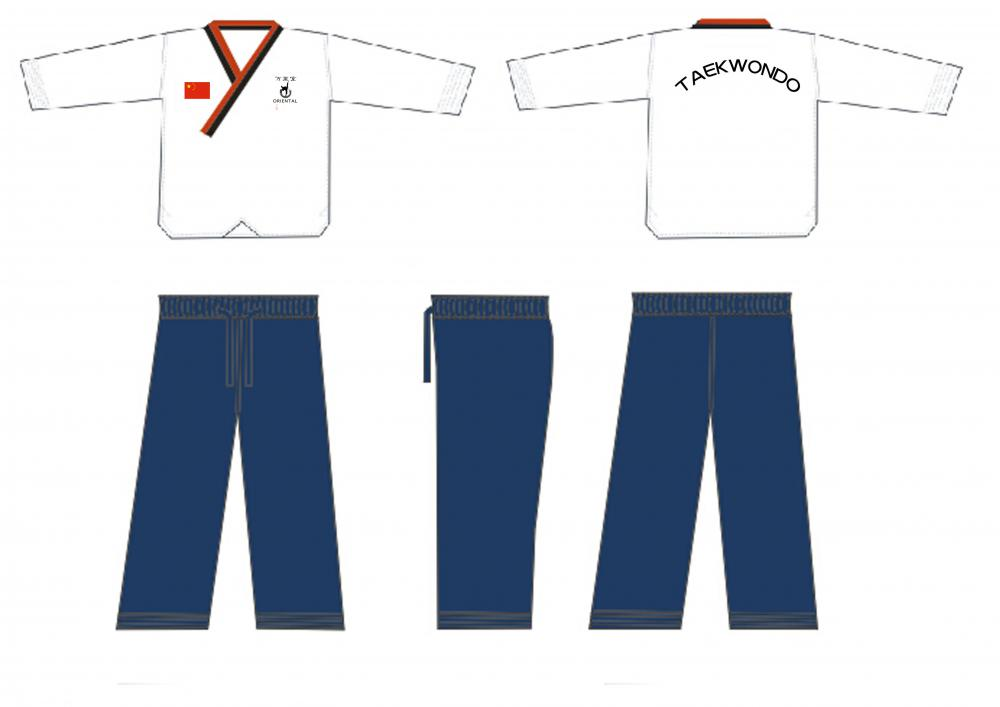 blue taekwondo uniform