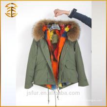 Factory Wholesale Custom Jacket Fox Thicken Hooded Real Fur Parka