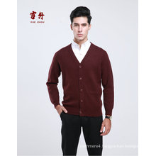 Yak Wool/Cashmere V Neck Cardigan Long Sleeve Sweater/Cardigan/Clothes/Knitwear