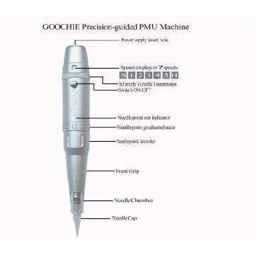 Digital Semi Permanent Make-up Maschine Tattoo Gun ZX-0101