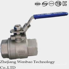 2PC DIN Female Thread Manul Floating Ball Valve with Handle