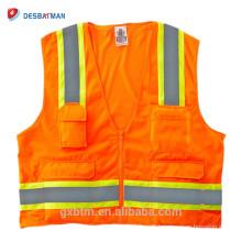 Chine Fournisseurs Fluo Hi-vis Gilet de sécurité industrielle Équipement de travail Gilet réfléchissant Gilet de sauvetage Jaune Orange