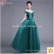 Na Venda Cap Sleeve Estilo Chinês Long Satin Vestido de noiva com vestido de noiva colorido Vestido de dama de honra