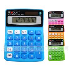 8 Digits Dual Power Colorful Mini Desktop Calculator (LC208C)