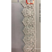 Eight Petal Wavy Flower Trims Cotton Embroider Fabric