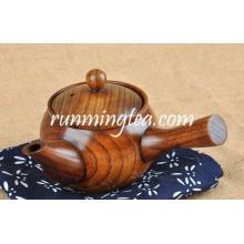 Unique Wooden Japanese Style Teapot