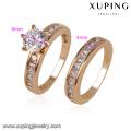 Anillo de bodas de la manera de la joyería 12888-Xuping con el oro 18K plateado