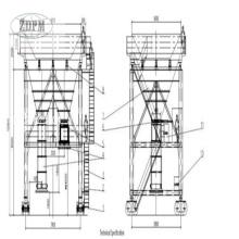 Schiene montiert Mobile Beweis Staubsaugeranschluss Zement Hopper