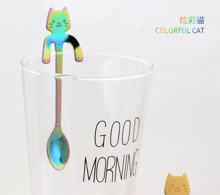 cartoon cat spoon