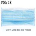 Masque facial jetable non tissé EN149 Earloop 3ply