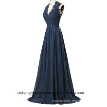 Women Lace Sleeveless V-Neck Evening Party Prom Dress