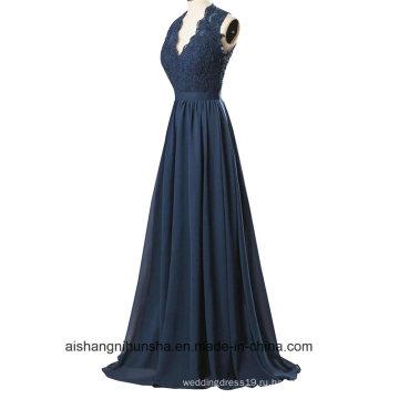 Женщин Кружева Без Рукавов V-Образным Вырезом Вечернее Платье Выпускного Вечера