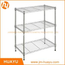 Kitchenware Homeware 3 Tier Adjustable Wire Shelving Unit Storage Shelf