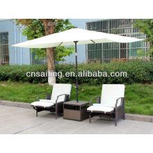 Popular Patio Waterproof cafe tables with umbrella
