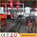 Gantry typr H beam welding machine SAW two welders with flux recovery system