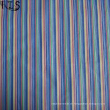 Baumwollstreifen-Popeline-gesponnenes Garn färbte Gewebe für Kleider Hemd / Kleid Rls60-14po