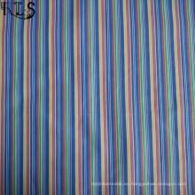 Tela tejida hilado del popelín de la raya del algodón teñido para la camisa / el vestido Rls60-14po de la ropa