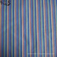 Tissu tissé de fil de popeline de rayure de coton pour la chemise / habillement de vêtements Rls60-14po