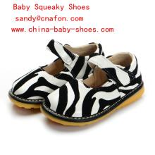 Zebra Druck Baby Mädchen Schuhe Quietschen Schuhe