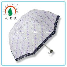 Impressão de flor moda guarda-chuva de dobramento para meninas