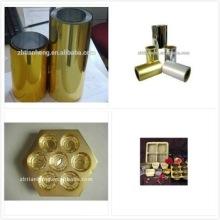 Золотая пленка ПВХ для шоколада блистер Pacaking