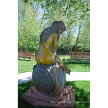 grandes esculturas ao ar livre metal ofício mulher nua escultura de bronze