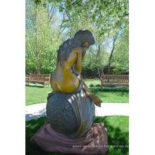 большой открытый скульптура металл ремесло обнаженная женщина бронзовая скульптура